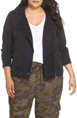 BP Hooded Knit Moto Jacket