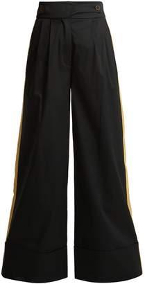 Palmer Harding PALMER/HARDING Side-stripe wide-leg trousers