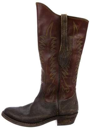 Golden Goose Leather Cowboy Boots