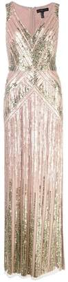 Aidan Mattox sequin embroidered gown