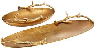 Twos Company Antler Trays (Set of 2)
