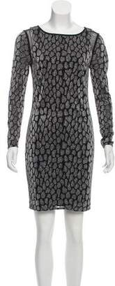 Reiss Metallic Patterned Dress