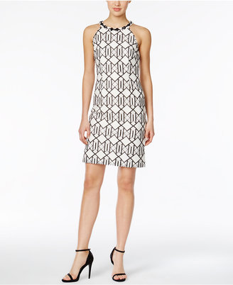 Nine West Lace Beaded Halter Dress $89 thestylecure.com