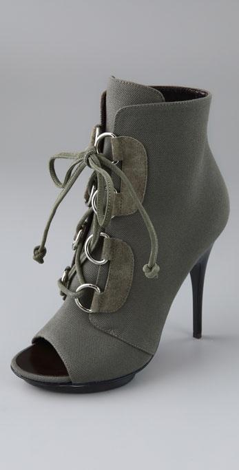 Giuseppe Zanotti Shoes Lace Up Open Toe Booties