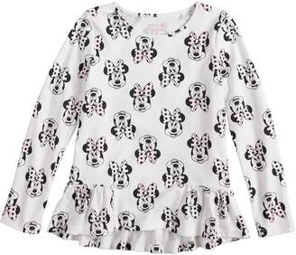 Disney's Minnie Mouse Girls 4-10 Pieced Ruffle Hem Top by Jumping Beans