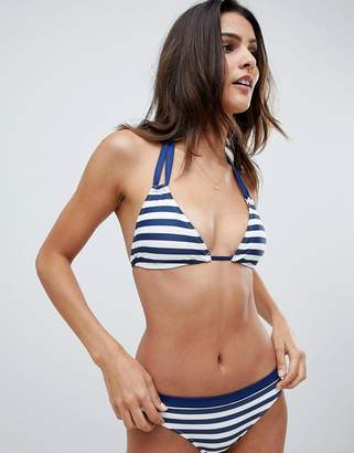 Dorina Triangle Stripe Bikini Top