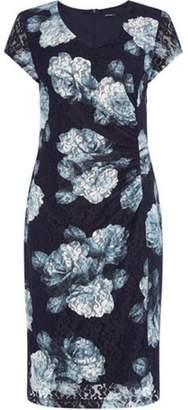 Dorothy Perkins Womens *Roman Originals Blue Lace Floral Shift Dress