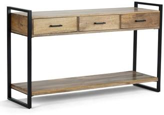 Simpli Home Riverside Rustic Console Table