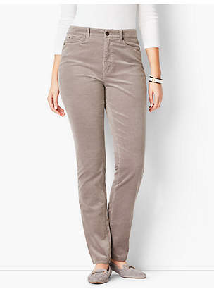 Talbots High-Rise Straight-Leg Pant - Curvy Fit/Cord