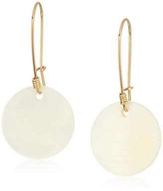 Robert Lee Morris Womens Moonrise Mother of Pearl Drop Earrings