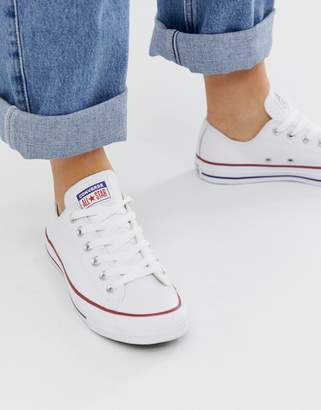 Converse Chuck Taylor Ox leather white trainers