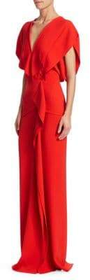 Roland Mouret Women's Lorre Layered Column Gown - Poppy Red - Size UK 6 (2)
