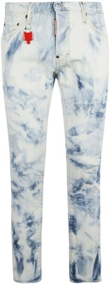 DSQUARED2 Bleach Wash Skinny Jeans