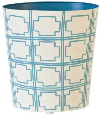 Worlds Away Oval Wastebasket, Squares