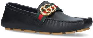 Gucci Leather Noel Driving Shoes