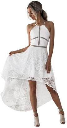 Goddessvan Womens Halter Neck Formal Prom Party Bridesmaid Wedding Ball Gown Cocktail Dress (L, )