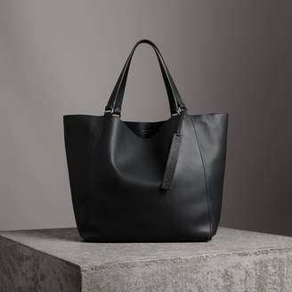 Burberry Large Bonded Leather Tote