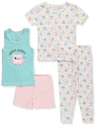 Rene Rofe Little Girls' 4-Piece Mix-and-Match Sleepwear Set