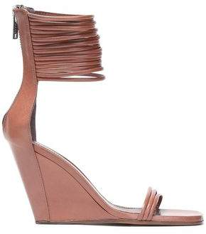 Rick Owens Leather Wedge Sandals