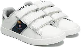 Ralph Lauren Kids bear embroidery sneakers