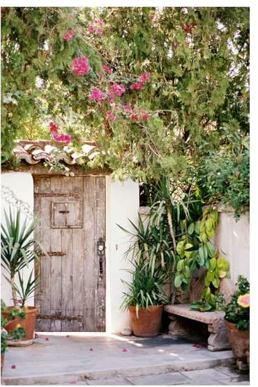 Spanish Inspired Door by Justine Milton