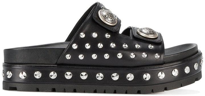 Alexander McQueenAlexander McQueen studded platform sandals