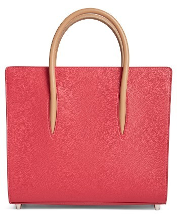 Christian Louboutin  Christian Louboutin Medium Paloma Calfskin Leather Tote - Pink