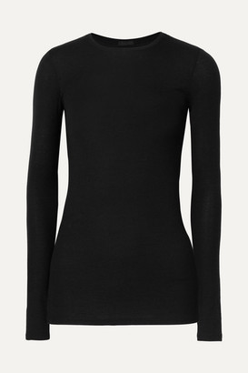 ATM Anthony Thomas Melillo Ribbed Stretch-micro Modal Top - Black