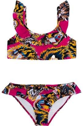 Gucci Kids tiger print bikini set
