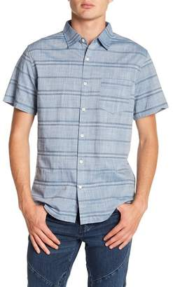 WALLIN & BROS Short Sleeve Oxford Jacquard Woven Shirt
