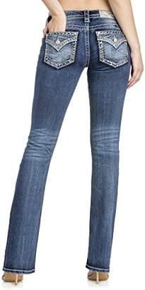 Miss Me Border Design Low Rise Boot Cut Womens Jeans L3222B