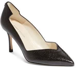 Karen Millen Women's Court Snakeskin-Embossed Leather High-Heel Pumps