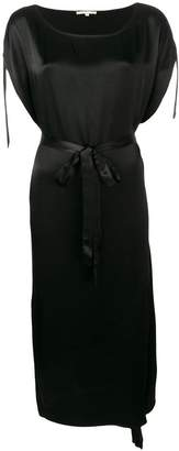 Gold Hawk belted waist dress