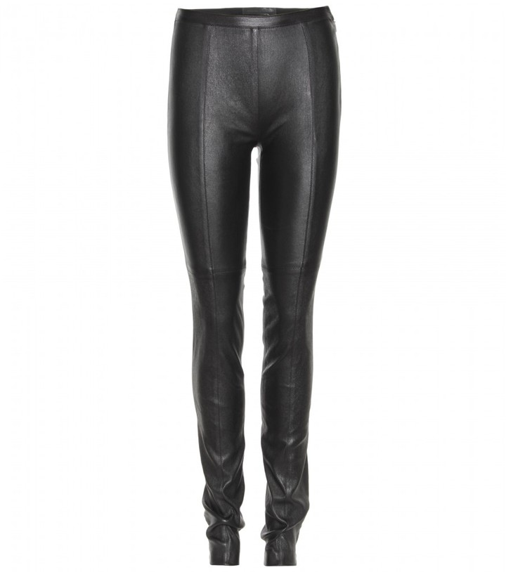 Proenza Schouler HIGH-WAISTED SKINNY LEATHER LEGGINGS