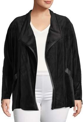 Calvin Klein Collection Flyaway Velvet Topper Jacket