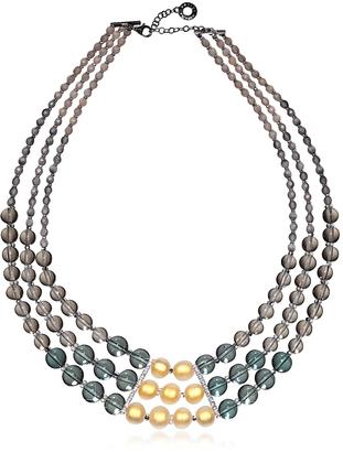 Antica Murrina Atelier Nuance - Grey & Amber Murano Glass Choker $440 thestylecure.com