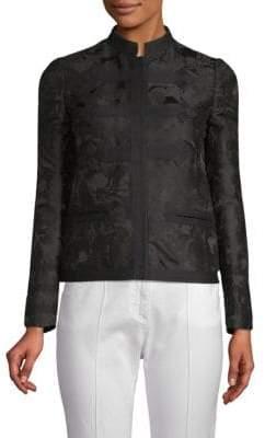 Valentino Floral Jacquard Mandarin Jacket