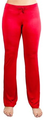 Crown Sporting Goods Soft & Comfy Yoga Pants, 95% Cotton/5% Spandex, Red M
