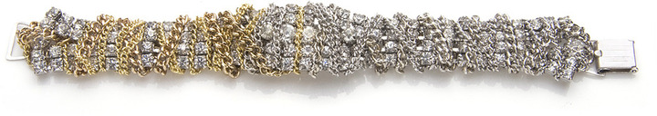 Lulu Frost Gold and Silver Art Deco Bracelet #1
