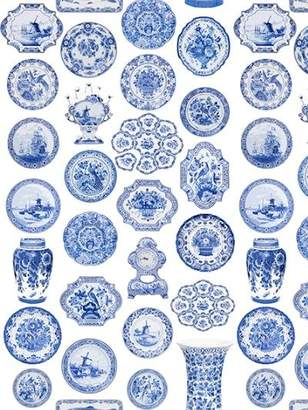 Royal Delft Collections Wallpaper By Nicolette Mayer