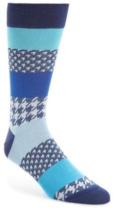 Men's Bugatchi Houndstooth Socks $19.95 thestylecure.com