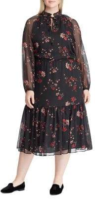 28499ad6f0f Free Shipping at The Bay · Lauren Ralph Lauren Plus Floral Georgette Dress