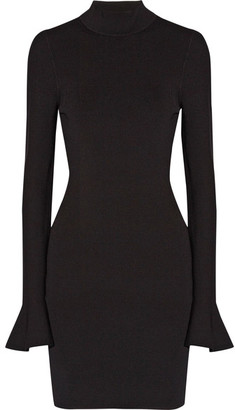 MICHAEL Michael Kors - Stretch-knit Turtleneck Mini Dress - Black $155 thestylecure.com