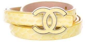 Chanel Python CC Waist Belt