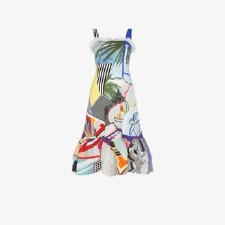 Mary Katrantzou Kara pop art sleeveless dress