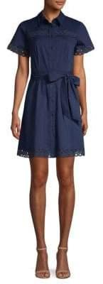 Shoshanna Irene Button-Front Dress