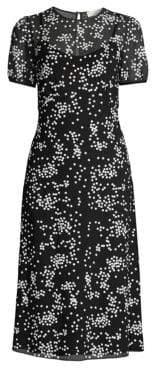 MICHAEL Michael Kors Floral Sequin Overlay Midi Dress