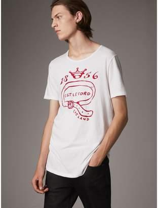 Burberry Castleford Print Cotton T-shirt