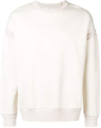 Pringle long sleeve knitted trim top