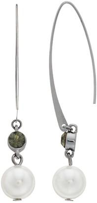Vera Wang Simply Vera Simulated Pearl Threader Earrings